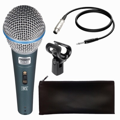 "MX Dynamic Mic Cardioid Vocal Multi-Purpose Microphones with XLR-1/4"" Cable Beta 58A Microphone"
