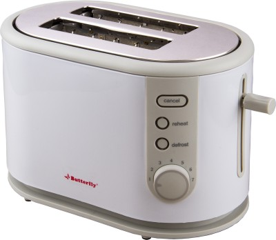 Butterfly ST 03 800 W Pop Up Toaster(White, Grey)