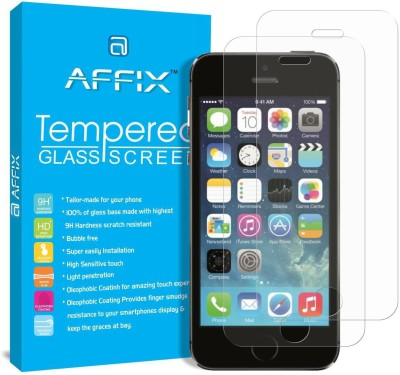 Affix Tempered Glass Guard for Apple iPhone 5, Apple iPhone SE, Apple iPhone 5C, Apple iPhone 5s(Pack of 2)