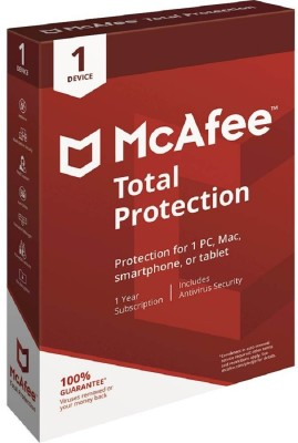 McAfee Total Security 1 User 1 Year(CD/DVD)