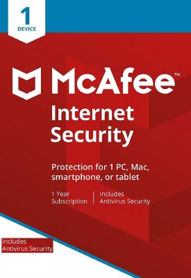 McAfee Internet Security 1 User 1 Year(CD/DVD)