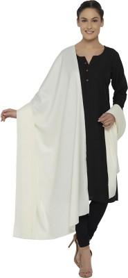 Ishin Acrylic Solid Women's Shawl(White)