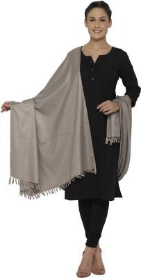 Ishin Acrylic Solid Women's Shawl(Brown)