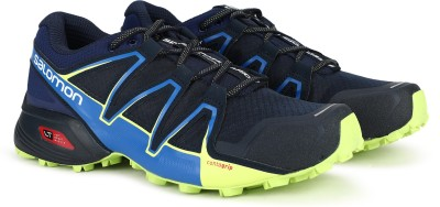 Salomon Speedcross Vario Running Shoes For Men(Blue, Black) at flipkart