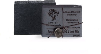 PRAMSH Activated Charcoal Handcrafted whitening & Detoxifying Spa Soap Bar 100*9=900gm(9 x 100 g)