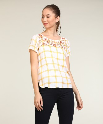 Vero Moda Casual Short Sleeve Checkered Women