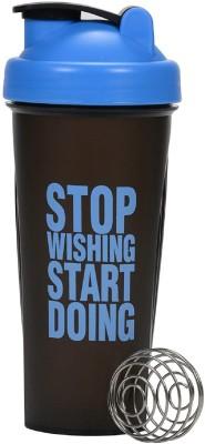 VOLCO My Gym Protein Shaker Bottle 600 ml Shaker(Pack of 1, Blue, Black)