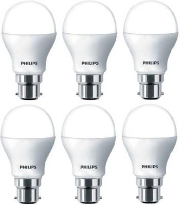 Philips 9 W Round B22 LED Bulb(White, Pack of 6)