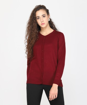 Metronaut Women Button Solid Cardigan at flipkart