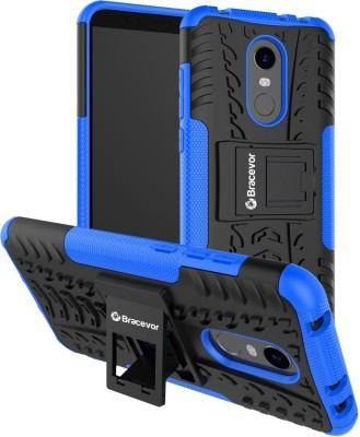 Bracevor Back Cover for Mi Redmi Note 5(Blue, Rugged Armor)