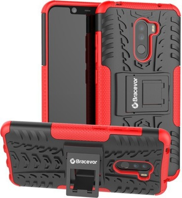 Bracevor Back Cover for POCO F1(Red, Rugged Armor, Flexible Case)