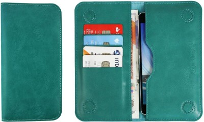 Emartbuy Wallet Case Cover for Multilaser MS60F Plus(Turquoise, Dual Protection, Artificial Leather)