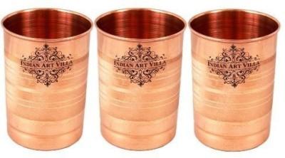 IndianArtVilla IAV-CB-1-1008 Glass Set(Copper, 900 ml, Brown, Pack of 3)