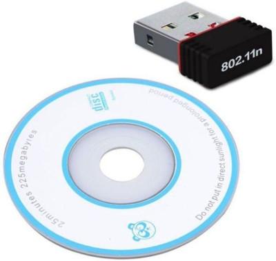 NeroEdge TeraByte Wifi Dongle 802.11n Wi Fi 2.4GHz Small Wireless LAN Network Card External PC Desktop Laptop USB Adapter Black