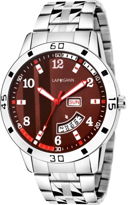 Lapkgann Couture LC1001SM12 New Exceptional Red dial silver chain strap day &date analog wrist Watch  - For Men