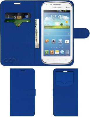 ACM Flip Cover for Samsung Galaxy Core(Blue, Cases with Holder, Artificial Leather)
