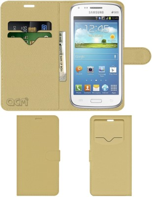 ACM Flip Cover for Samsung Galaxy Core(Gold, Cases with Holder)