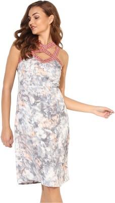 Heather Hues Women Sheath Multicolor Dress