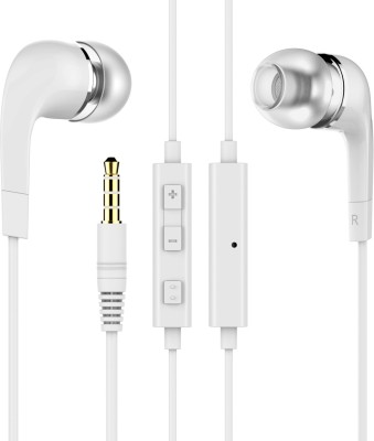Brand New SamsunWE Earphones Wired Headset with Mic(White, In the Ear)