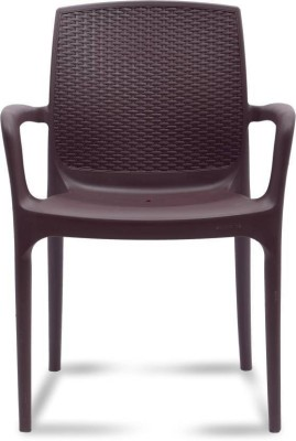 Supreme Branded Texas Plastic Living Room Chair(Finish Color - Brown)