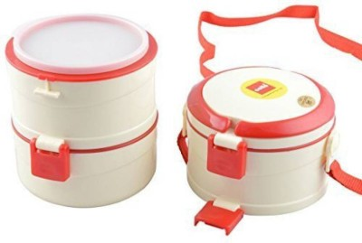 Cello Merit 3 Red 3 Containers Lunch Box(750 ml)