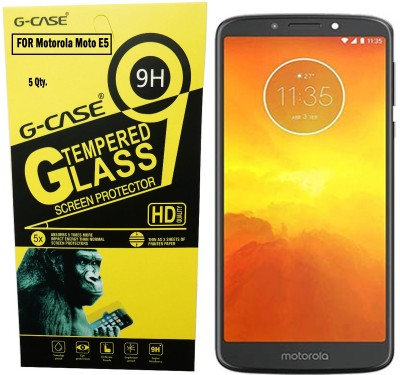Tempered Glasses Edge To Edge Tempered Glass for Motorola Moto e5 Plus 4D Tempered Glass(Pack of 1)