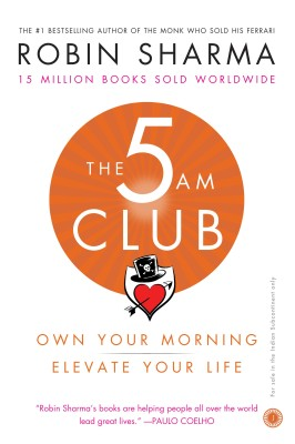 Part manifesto for mastery, part playbook for genius-grade productivity and part companion for a life lived beautifully, the 5 am club is a work that will transform your life. Forever.Legendary leadership and elite performance expert Robin Sharma introduced The 5 AM Club concept over twenty years ago, based on a revolutionary morning routine that has helped his clients maximize their productivity, activate their best health and bulletproof their serenity in this age of overwhelming complexity.Now, in this life-changing book, handcrafted by the author over a rigorous four year period, you will discover the early-rising habit that has helped so many accomplish epic results while upgrading their happiness, helpfulness and feelings of aliveness.Through an enchanting-and often amusing-story about two struggling strangers who meet an eccentric tycoon who becomes their secret mentor, The 5 AM Club will walk you through:How great geniuses, business titans and the world's wisest people start their mornings to produce astonishing achievements A little-known formula you can use instantly to wake up early feeling inspired, focused and flooded with a fiery drive to get the most out of each dayA step-by-step method to protect the quietest hours of daybreak so you have time for exercise, self-renewal and personal growthA neuroscience-based practice proven to help make it easy to rise while most people are sleeping, giving you precious time for yourself to think, express your creativity and begin the day peacefully instead of being rushed