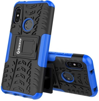Bracevor Back Cover for Mi Redmi 6 pro(Blue, Rugged Armor, Flexible Case)