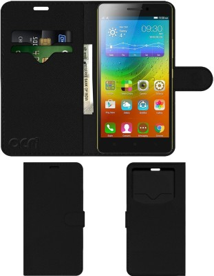 ACM Flip Cover for Lenovo K3 Note(Black, Cases with Holder, Artificial Leather)