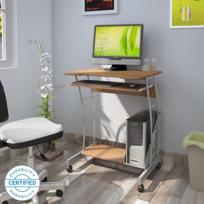Nilkamal Leo Solid Wood Computer Desk(Modular, Finish Color - Beech)