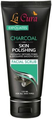 Lacura Charcoal Skin Polishing Facial Scrub (120 ml) Scrub(120 ml) 1