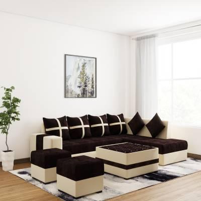 Status Fabric 6 Seater  Sofa