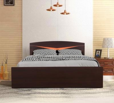 HomeTown Engineered Wood King Bed(Finish Color - Denever Oak)