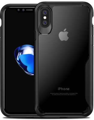 Tommcase Back Cover for Apple iPhone XS(Clear Black, Shock Proof)