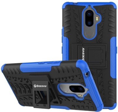 Bracevor Back Cover for Lenovo K8 Plus(Blue, Rugged Armor, Rubber, Plastic)