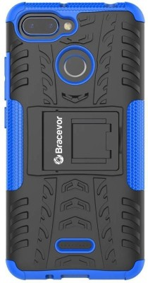 Bracevor Back Cover for Mi Redmi 6(Blue, Rugged Armor, Flexible Case)