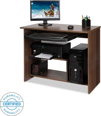 Delite Kom melanza Engineered Wood Computer Desk(Modular, Finish Color - Brown)