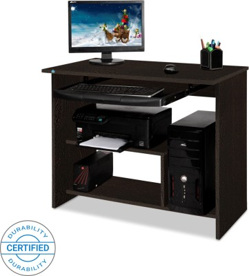 Delite Kom melanza Engineered Wood Computer Desk(Straight, Finish Color - Wenge)