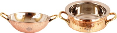 IndianArtVilla Induction Bottom Cookware Set Copper, 2   Piece IndianArtVilla Cookware Sets