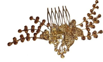 GULZAR Latest wedding fashionable Trendy Side pin wedding collection Hair Clip (Gold) Hair Pin (Gold) Hair Pin(Gold)