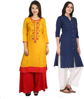 PANACHE CREATION Casual Solid, Embroidered Women