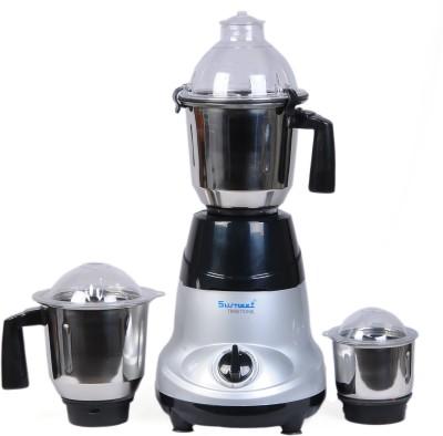 Sumeet Amica 750 W Mixer Grinder(Grey, Black, 3 Jars)