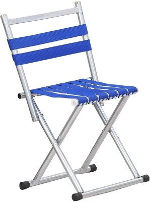 Inditradition Folding Garden Chair | Ideal for Camping, Travelling, Lawn, Patio, Perfect for Adult (Blue) Metal Outdoor Chair(Finish Color - Blue)