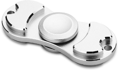 Premsons Metal Dual Fidget Spinner Matte Silver Silver Premsons Spinning   Press n Launch Toys