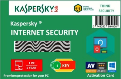 KASPERSKY Internet Security 2018 - 1 Pc / 1 Year / 1 User [1 Key+ 1 CD]