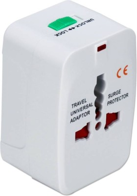 Suroskie Universal All in One Travel Charging Plug Worldwide Adaptor White