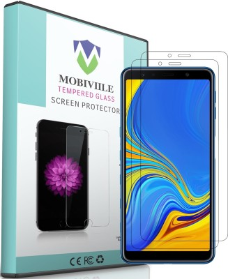 MOBIVIILE Tempered Glass Guard for Samsung Galaxy A7 2018 Edition Pack of 2