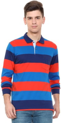 Allen Solly Striped Men Polo Neck Multicolor T-Shirt