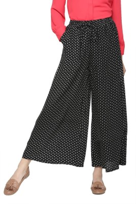 People Regular Fit Women Black Trousers at flipkart