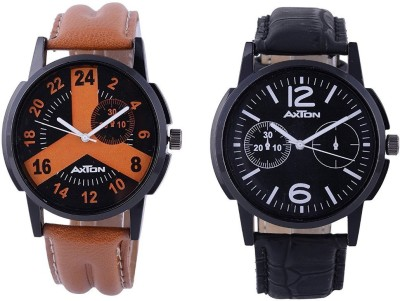 AXTON AXG-6005 Analog Multicolor Dial Unisex Watch - (Pack of 2) Analog Watch  - For Men
